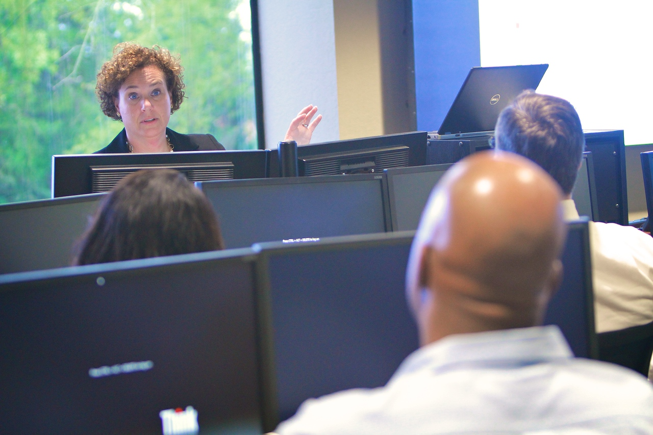 Charlotte Campus Center Wealth & Trust Management Degree classroom; Fall 2014