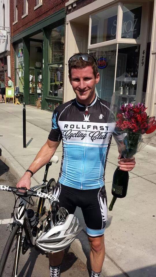 Grant Goldman wins Mass Ave Crit category 4