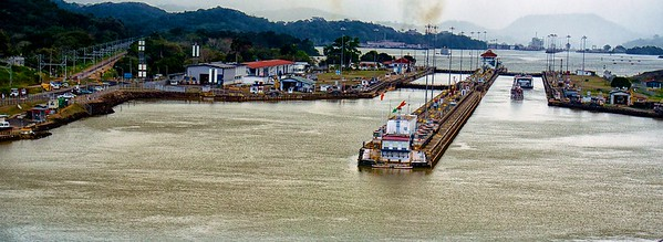 Entering Pedro Miguel Locks