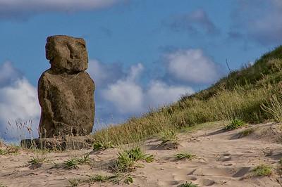 Ahu Ature Huke Moai at Anakena Beach