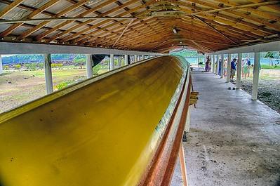 Samoan Long Boat 120 foot long 50 rowers