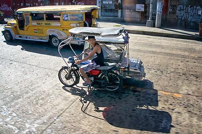 Jeepneys  and trishaw