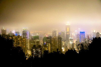 Skyline from Victoria Peak Road