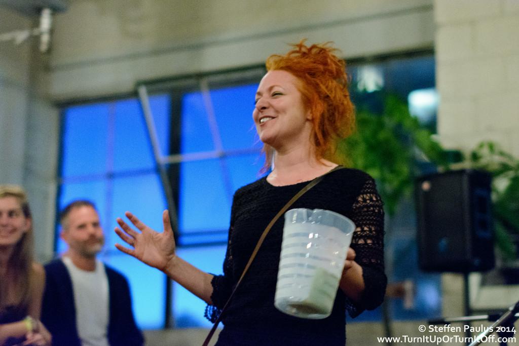 "Miranda Mulholland hosting the ""Airshow"" event @ 777 Richmond St. West, Toronto, ON, 28-August 2014"