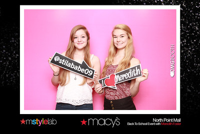 """2014.09.06 Macy's North Point Mall Back to School with Meredith Foster  """"Like"""" us at www.facebook.com/omgbooth to TAG + SHARE + DOWNLOAD your photos"""
