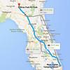 Travel Route - 13-Nov-2014 - Jupiter, FL to Valdosta, GA