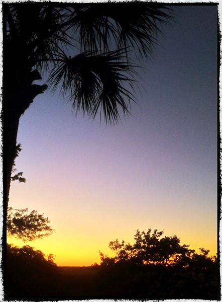 11-7-14 Sunset at 30 Marsh Edge