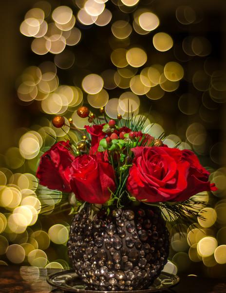 12-21-14 Christmas Flowers with bokeh