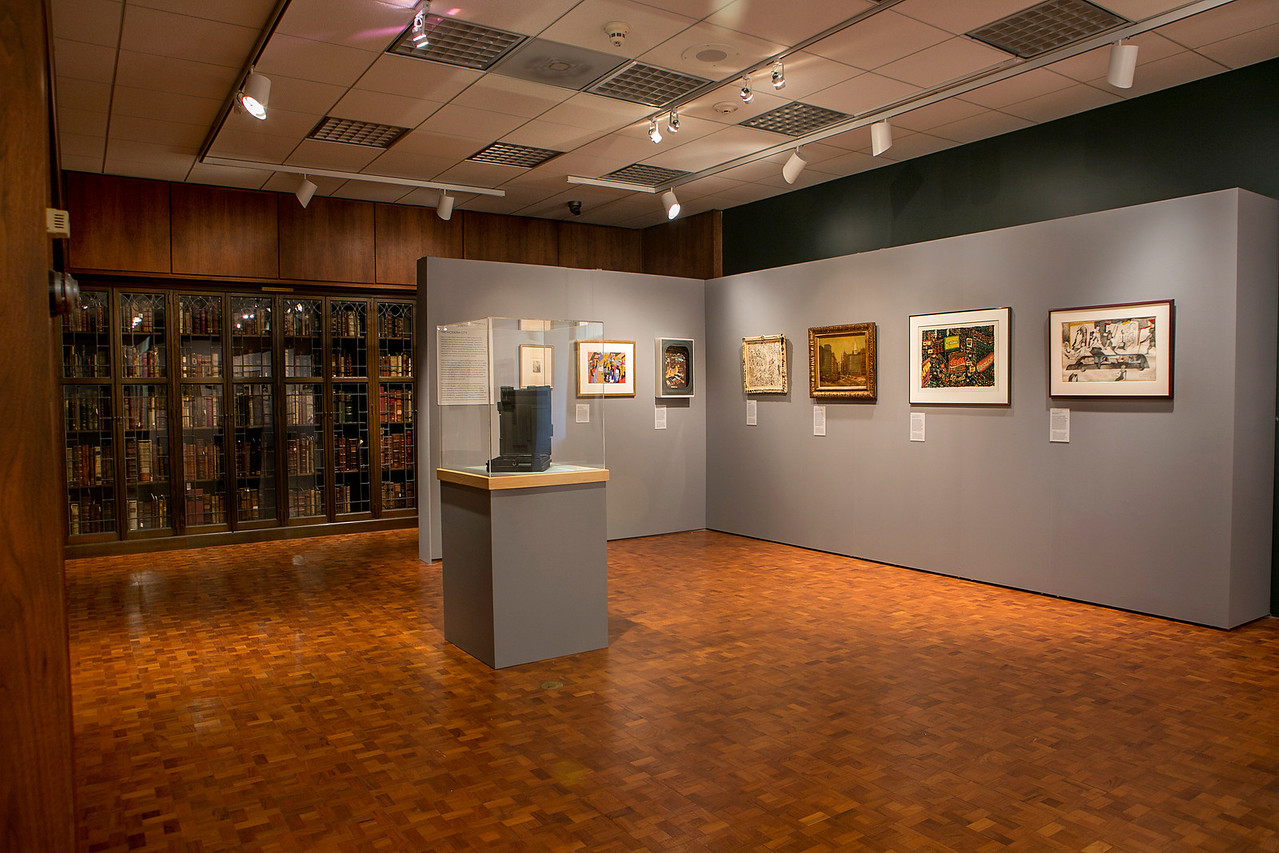A Century of Self-Expression exhibit in the Rare Book Room at Bryn Mawr College.