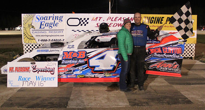Feature winner #4B Brian Brindley with wife Holly
