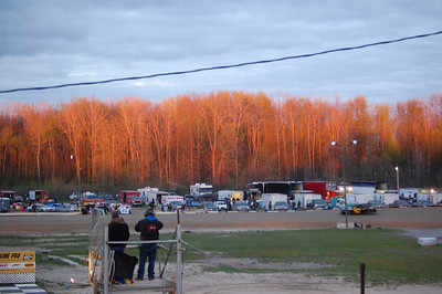 Finally! A beautiful, clear night at the Mt. Pleasant Speedway.