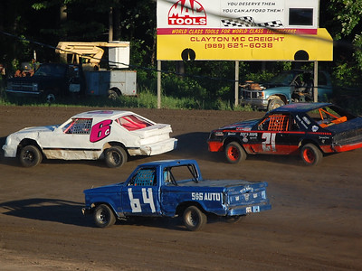 #6C Dwight Crawford, #64 Steve Keeler Jr. and #21 Ken Patterson