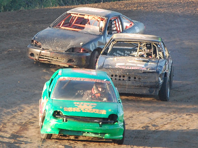 #57 Randy Kretzinger, #95 Brendan Powell and #42 Shelby Shank