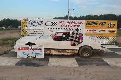 Heat race winner #6C Dwight Crawford