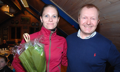 Takk og blomster til Janne som gikk ut av styret