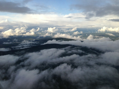 The volatile sky just after our plane was hit by lightning on our descent into Fairbanks.