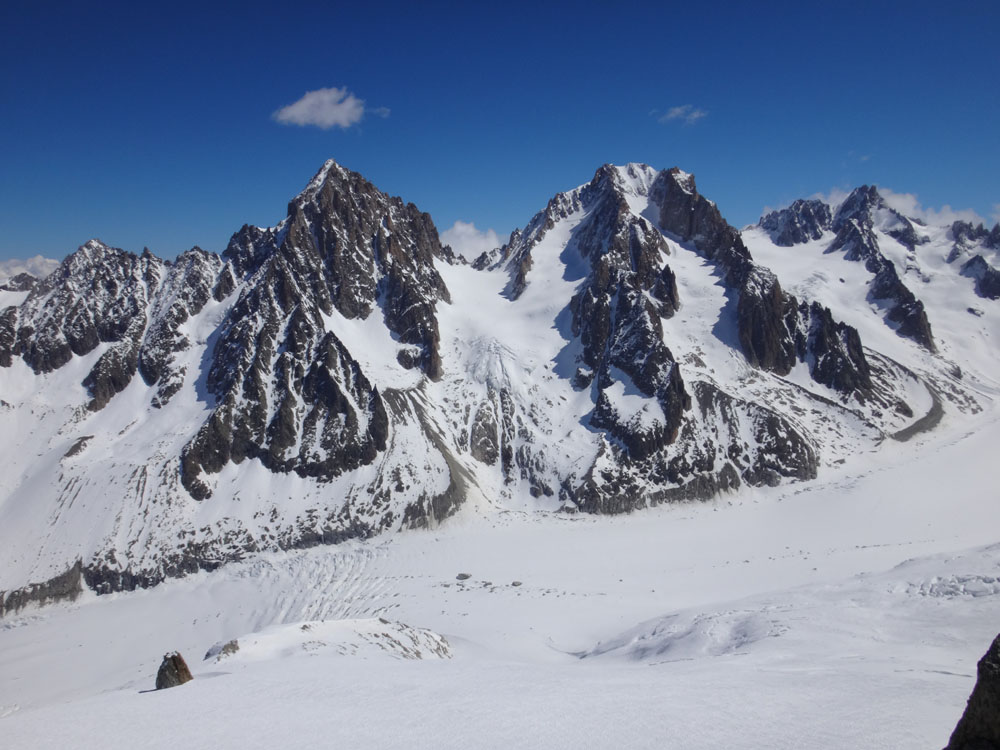 On the way down we were rewarded with spectacular views of the Argentiere Glacier
