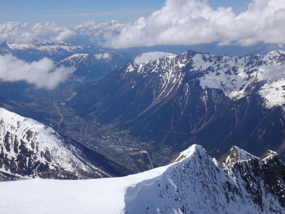 And then it was back to base in the beautiful Chamonix valley, over 2,000 m below