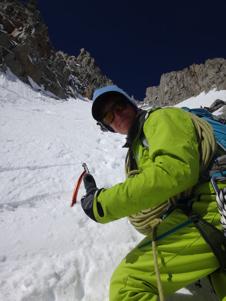 I'm almost a beginner and had never contemplated anything quite so terrifying before (with the possible exception of certain Mt Blanc climb slopes, 5 years ago…). However with a cheery smile my guide Julien encouraged me on… I wasn't entirely sure I wasn't heading to my death...
