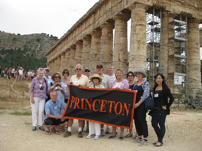 Princeton Journeys Travelers at Segesta, Sicily - Johanna Frymoyer