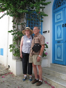 Bill and Ginny in Sidi Bou Said - Johanna Frymoyer