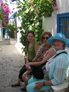 Johanna, Myriam, and Libbie in Sidi Bou Said - Johanna Frymoyer