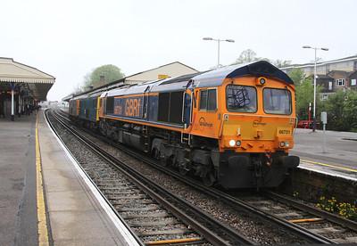 66731 Basingstoke 28/04/14 0Y62 Eastleigh to Tonbridge with 73208 and 73213