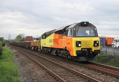 70804 Nursling 28/04/14 6Z30 Westbury to Eastleigh