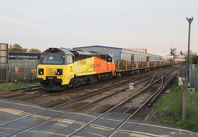 70803 Northam 24/04/14 on the rear of 6C19 Eastleigh to Feniton
