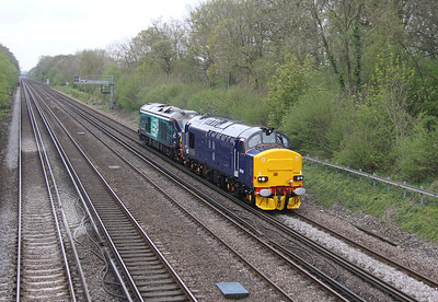 37423 Old Basing 22/04/14 0Z68 Eastleigh to Willesden Brent with 68002