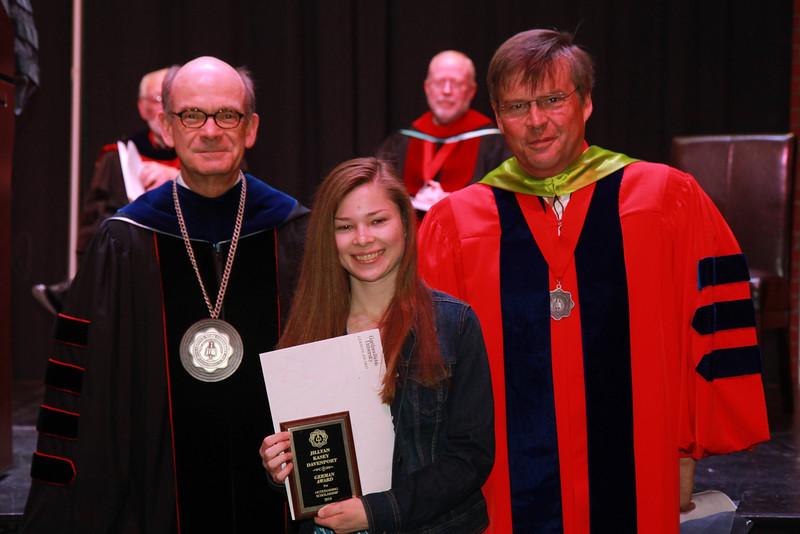 59th Academic Awards Day; Spring 2014. German Award: Jillyan Kasey Davenport