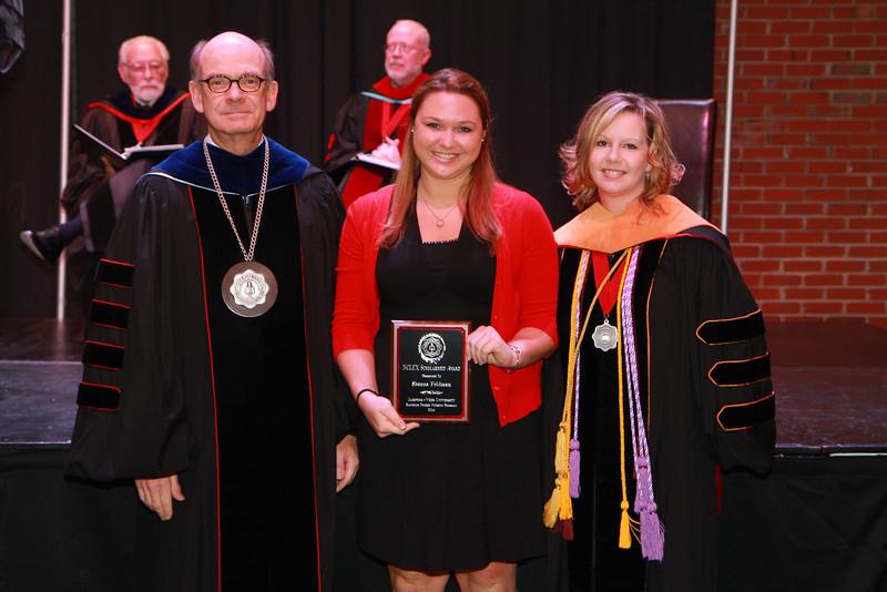 59th Academic Awards Day; Spring 2014. BSN NCLEX Scholarship Award: Shana Jane Feldman