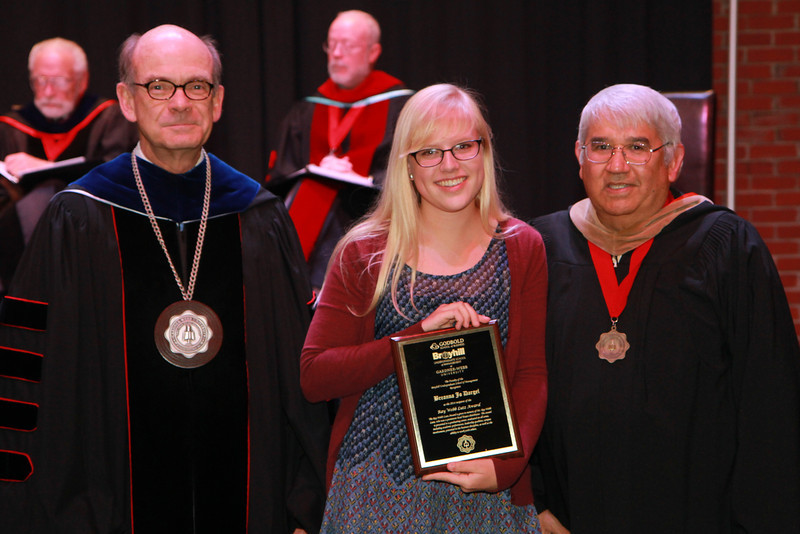 59th Academic Awards Day; Spring 2014. Ray Webb Lutz Award: Breanna Jo Dargel