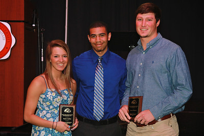 Student-Athlete Advisory Committee Outstanding Members: Katie Loftin and Lucas Beatty