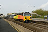 23 April 2014 :: 70801 running light from Westbury to Hinksey with 0M50 where loaded spoil wagons were attached turning the working into 6M50 to Bescot