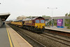 23 April 2014 :: 66151 passing Swindon on 6M26 from Westbury to Stud Farm