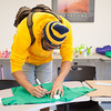 142408 Clothesline JOED VIERA/STAFF PHOTOGRAPHER-Sanborn, NY- Jordan Green makes a shirt at NCCC April 8, 2014.