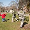 140416 Sheriff training JOED VIERA/STAFF PHOTOGRAPHER-Lockport, NY-Sheriff deputies apprehend a suspect during a training exercise April 16, 2014.