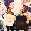 142408 Clothesline JOED VIERA/STAFF PHOTOGRAPHER-Sanborn, NY- Colleen Mary Johnson and Kristy Zorda hold up shirts made by students at NCCC April 8, 2014.