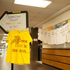 142408 Clothesline JOED VIERA/STAFF PHOTOGRAPHER-Sanborn, NY- A t-shirt and sign welcome students to make t-shirts at NCCC April 8, 2014.