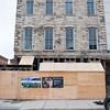 140325 Opera JOED VIERA/STAFF PHOTOGRAPHER-Medina, NY-The front of Bent's Opera House undergoing  restoration Mar.28, 2014.