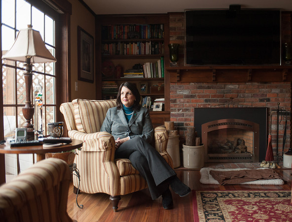 140326 Volunteer Honored JOED VIERA/STAFF PHOTOGRAPHER-Lockport, NY- Kathleen Maxian sits in her home on Mar. 27, 2014