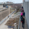 140416 Enterprise JOED VIERA/STAFF PHOTOGRAPHER-Lockport, NY-YMCA takes children for a walk along the canal April 16, 2014.