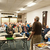 140326 WW2 JOED VIERA/STAFF PHOTOGRAPHER-Lockport, NY- World War 2 Veteran Everett Fitchlee speaks at the Lockport Historiacl Society on Mar.27, 2014.
