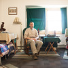 142409 Bertrand JOED VIERA/STAFF PHOTOGRAPHER-Lockport, NY-Richard Bertrand sits inside of his apartment April 9, 2014.