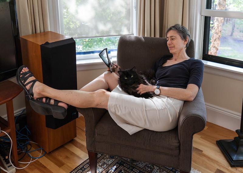 Chantal & Truffle reading