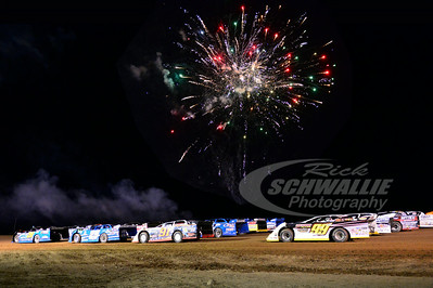 4-Wide Salute with Fireworks