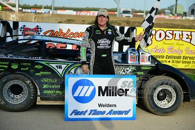 Scott Bloomquist won the Miller Welders Fast Time Award