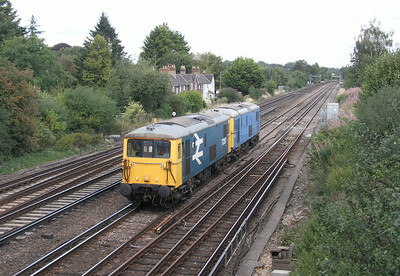 73207 Worting Junction 22/08/14 0Z33 Acton Lane Reception Sidings to Eastleigh with 73109