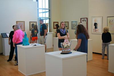 Art show in TSC Gallery; Fall 2014.
